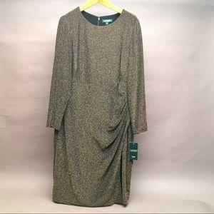 Lauren by Ralph Lauren Dress Size 18W gold black